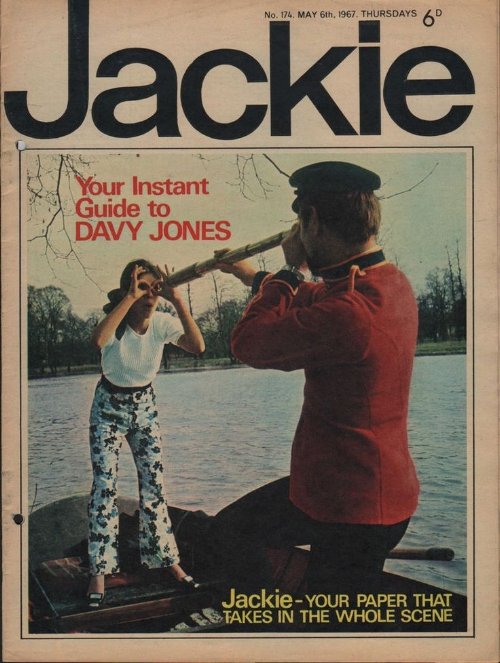 """""""I don't think anybody now realises how huge Jackie was. And what I think was a real coup, it was classless. Really posh girls read Jackie. Girls' brothers secretly read Jackie. It was common currency"""" -  Jacqueline Wilson,    The Guardian"""