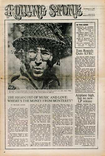 First cover pic: John Lennon in 'How I Won the War'
