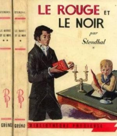 """""""With the ruthlessness and calculation of his role model Napoleon, Julian Sorel mounts a successful campaign to seduce the wife of his employer""""  - Piers Paul Reid"""