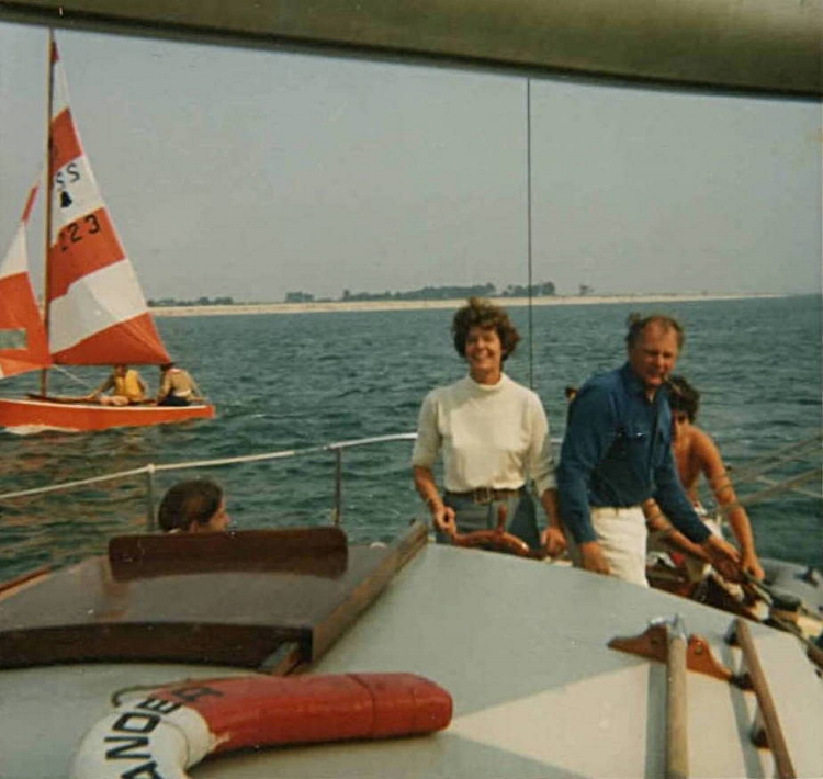 Ma and Pa at the helm of 'Oleander'