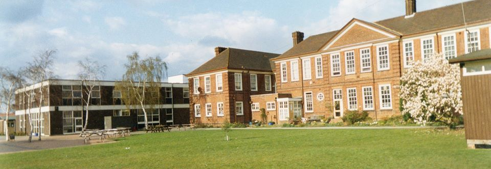 The Sixth Form Unit on the left. It was the first in the country..
