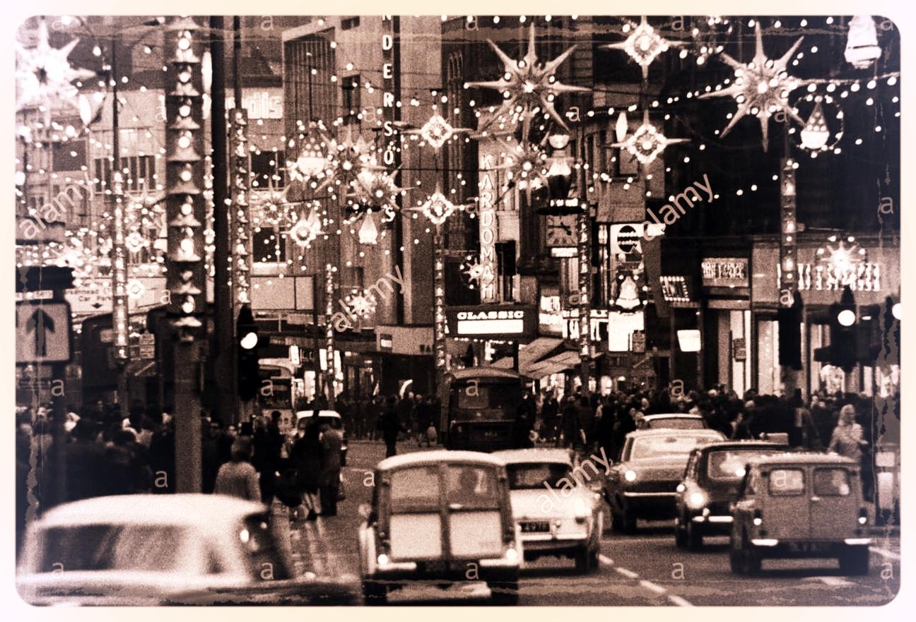 Christmas lights, 1960s  Photo: Alamy