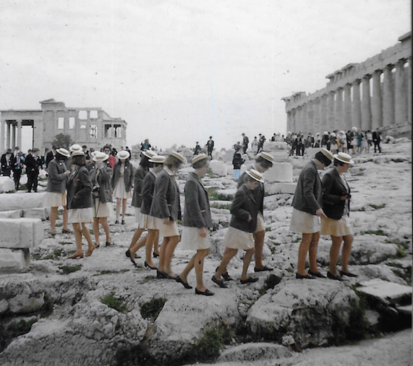 """Seeing the Parthenon at long last was a bit of an anti-climax and the tourists spoilt it a bit. """