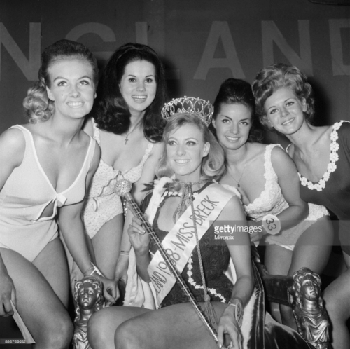 """The """"moderately ok"""" Jannifer Lowe Summers, a 22-year-old secretary from Whitley , winner of Miss England"""