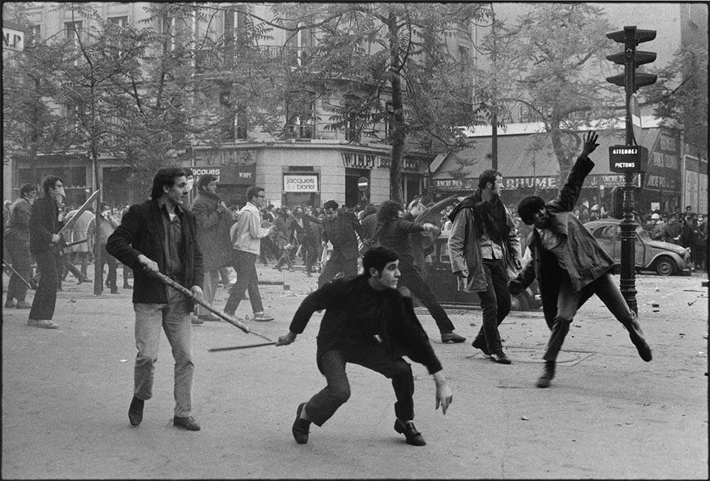 Boulevard Saint Germain,,6 May 1968. Photo: Bruno Barbey/Magnum