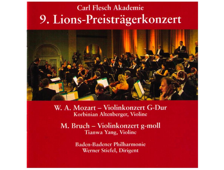 Carl-Flesch-Akademie - 9. Lions-Preisträgerkonzert 2006  Max Bruch: Violin Concerto G minor, Op.26  Tianwa Yang, Violine (Bruch) Baden-Badener Philharmonie Werner Stiefel  Label: Bella Musica BM 31.2416