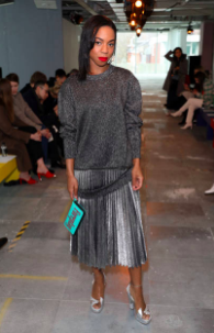 Pippa Bennett-Warner attends the Christopher Kane show during London Fashion Week February 2019 on February 18, 2019 in London, England. (Photo by Darren Gerrish/WireImage)