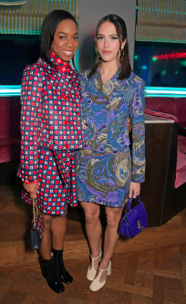 Pippa Bennett-Warner & Jessica Brown Findlay attend Mulberry's LFW SS19 Show at Laylow on Feb 15, 2019, London, England. (Photo by David M. Benett/Dave Benett/Getty Images for Mulberry)