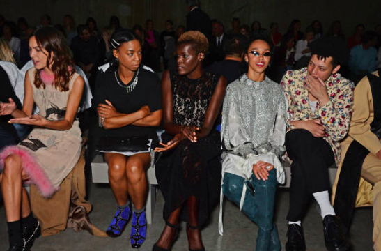 Alexa Chung, Pippa Bennett-Warner, Sheila Atim, FKA Twigs & Matthew Josephs attend Christopher Kane Show during LFW 2018 at the Tate Modern Sept 2018 London (Photo by David M. Benett/Getty Images)