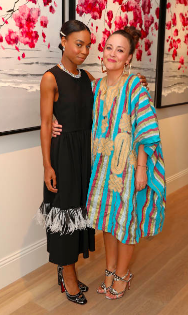 Pippa Bennett-Warner and Alexandra Mann attend Boodles celebration of Pippa Bennett-Warner's 30th birthday Jul 2018 in London. Pippa is part of Boodles Ambassador Programme (Photo by David M. Benett)