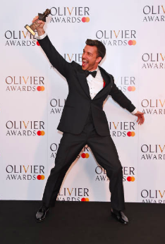 Jonathan Bailey wins the Best Supporting Actor in a Musical Olivier April 2019