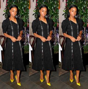 Pippa Bennett-Warner attends the launch of the Christopher Kane Christmas terrace at Scott's on November 14, 2018 in London, England. (Photo by David M. Benett/Dave Benett/Getty Images for Scott's)