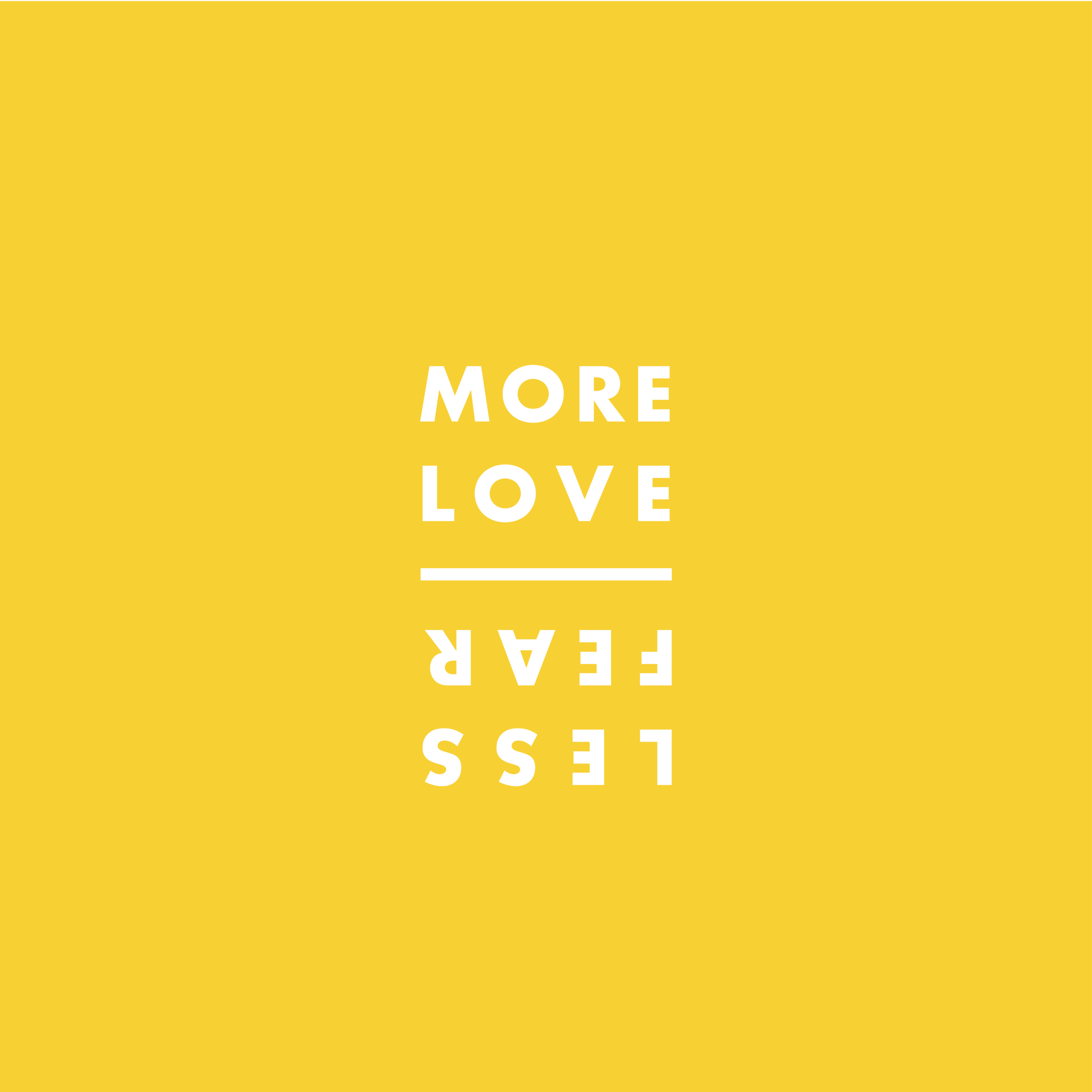 - The More Love Less Fear campaign began in early September. The name of our campaign came from 1 John 4:18, where it says that