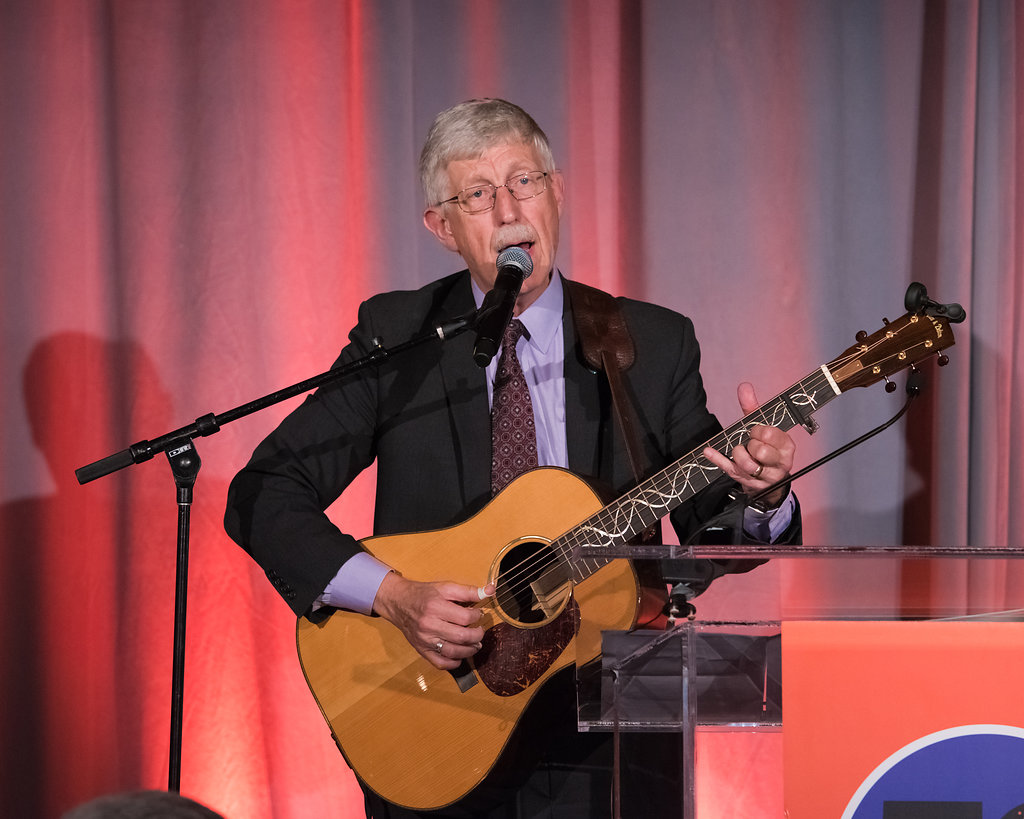 NIH Director Francis Collins performing at HDF 50th Anniversary