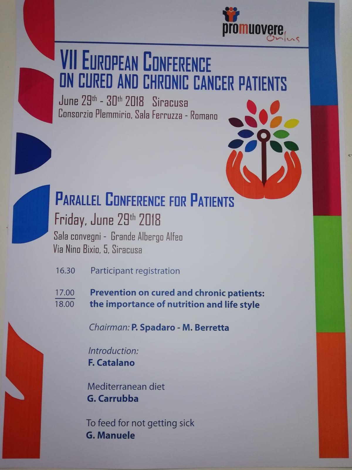- A causa di problematiche organizzative, la sede della conferenza per i pazienti è stata cambiata e si terrà presso la Sala Convegni del Grande Albergo Alfeo (Via Nino Bixio n.5 Siracusa).