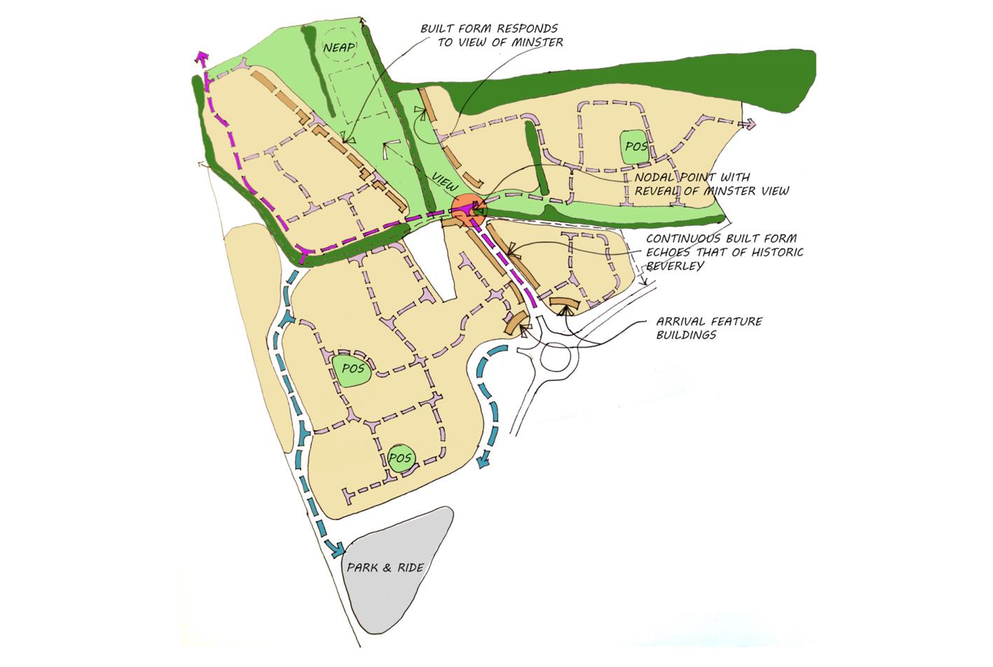 Evolved Concept Masterplan