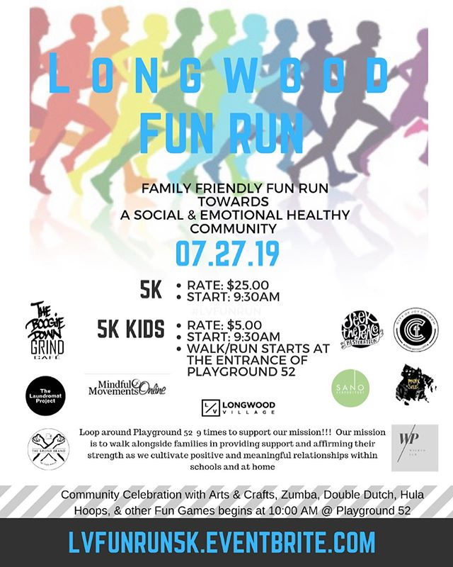Join Longwood Village 5K Fun Run and support the mission! @bronxsole will be leading the run/walk! Weepaaa!!! Check lvfunrun5k.eventbrite.com for more details.  What are our raffle prizes so far?!!! Glad you asked... Boogie Down Grind Cafe 20.00 gift card and mug. @boogiedowngrind & Throwing in there a $25.00 Barnes & Nobles gift card! *Also free specialty coffee, wine, or beer for all registered runners/walkers from @boogiedowngrind ☕️🍷🍻 Sanoacupuncture Treatment Gift Cerificate and a $25.00 Bath & Body Works Gift Card  The Bronx Brand Tees @thebronxbrand with a $25.00 Modell's Gift Card  AMC Gift Cards with movie time goodies 🍿  Muji Journal Book, Pen, a Candle and a $25.00 Gift Card from Wicked Pen @imjust_talkingto_myself *Much More TBA!!! Not a runner/walker🤣😜🥴 Swipe to our second flyer and just come through for@the festivities! So far we will have Zumba from @mindfulmovementsbx Arts & Crafts from @laundromat_proj @Story Time with infants and toddlers with @bronxprhub  Games, music by @dj_pusha and much more!!!