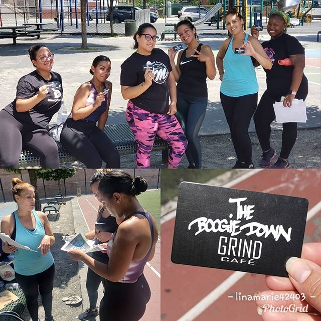 @linamarie42403 won't be with us this Sunday😩 BUT we are still on for this Sunday at 1pm sharp!!! Someone special and dear to us will be leading the way!!! YAY!!!;) First 13 and new participants will receive a $5.00 @boogiedowngrind grift card!  Stay tune for our next workout with @linamarie42403 and check out her  space to get your butt whipped 😅#longwoodvillage  #southbronx #healthylifestyle #community