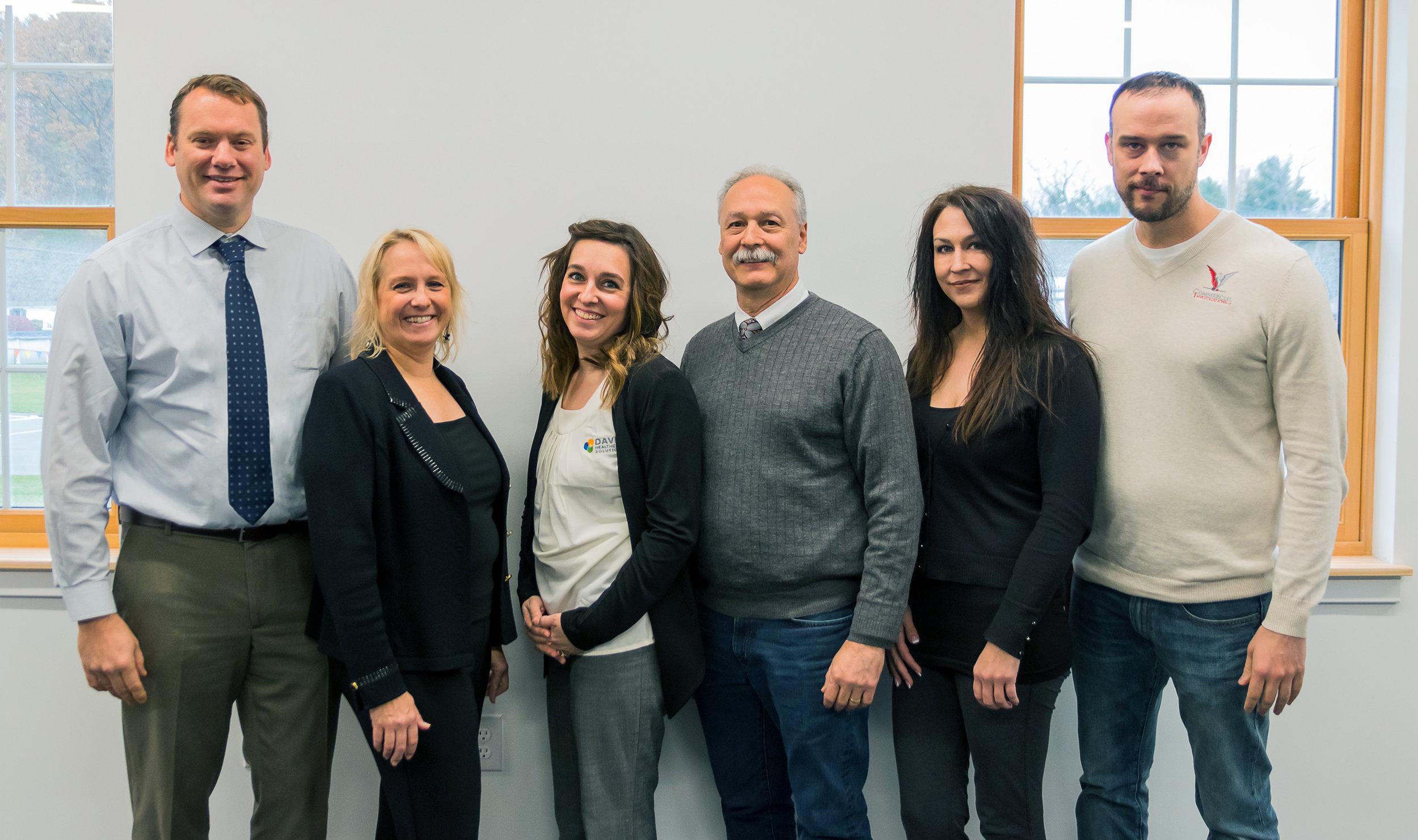 David Theobald, Michelle Pyan, Sarah Pechar, Mike Zinni, Sherry Kocienski, Craig Wigand