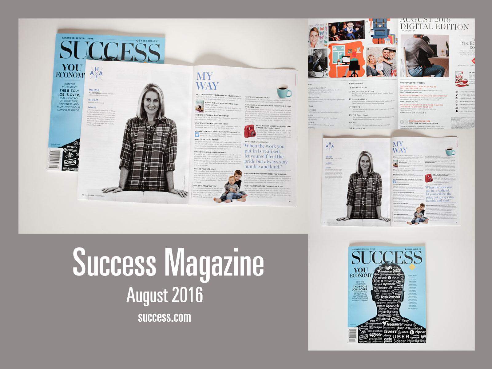 Success Magazine -  August 2016