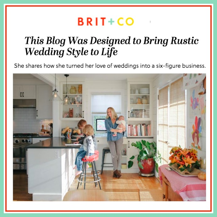 Brit + Co -  This Blog Was Designed To Bring Rustic Wedding Style To Life
