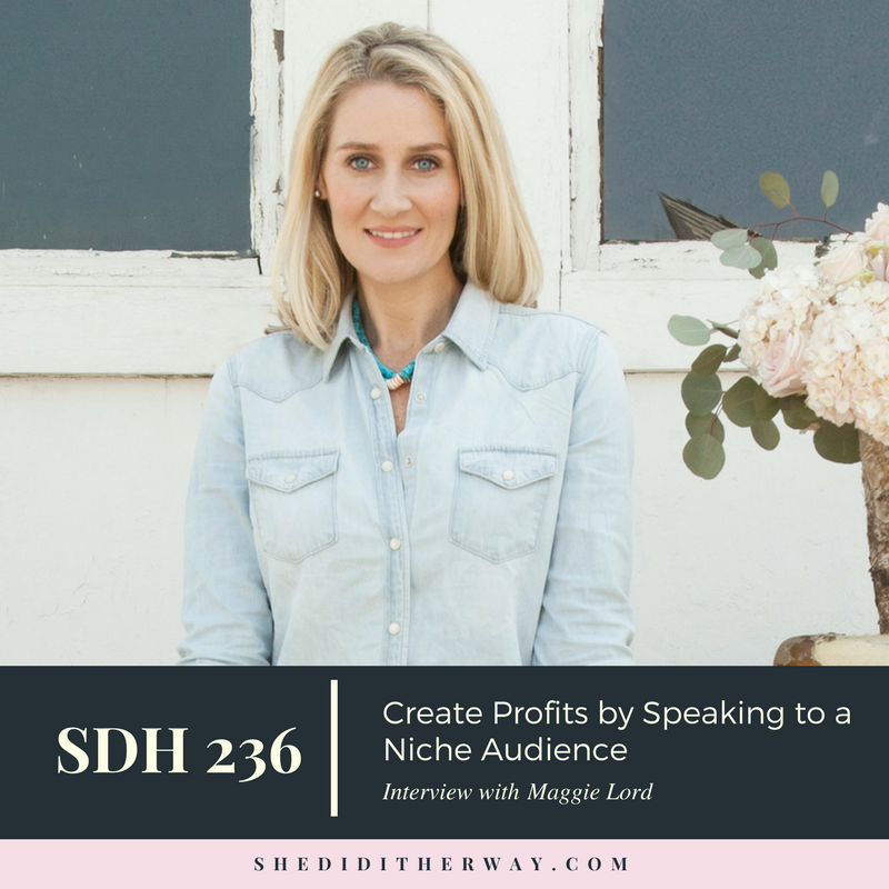 She Did It Her Way Podcast -  Create Profits by Speaking to a Niche