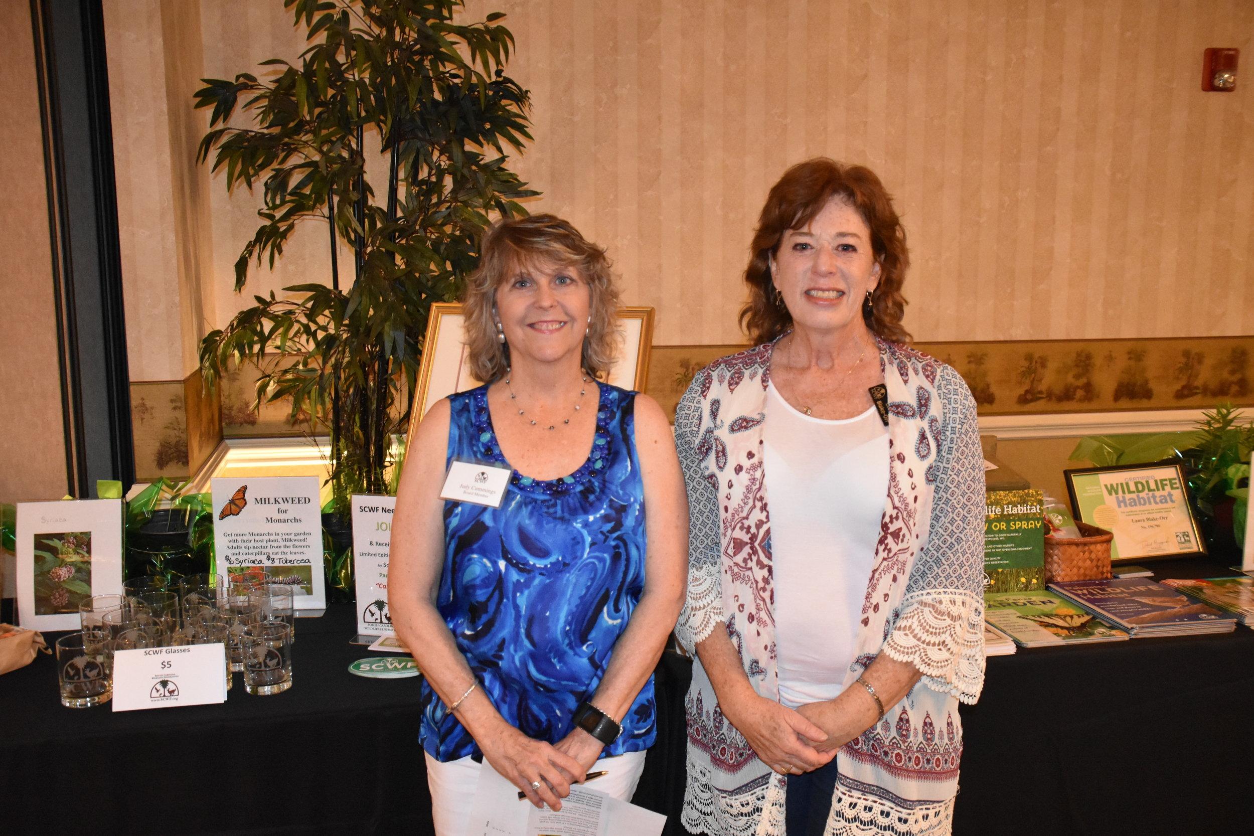 Volunteer Judy Cummings and Wildlife Habitat Manager Laura Blake-Orr. Photo credit: Ray Nelson