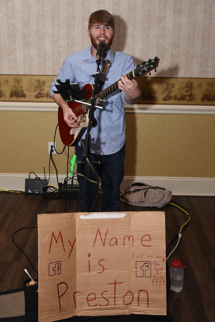 Preston performing. Photo credit: Ray Nelson