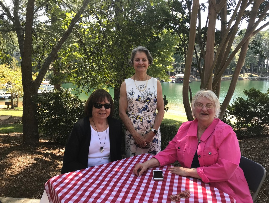 Alice Guzick with members of the Garden Club.