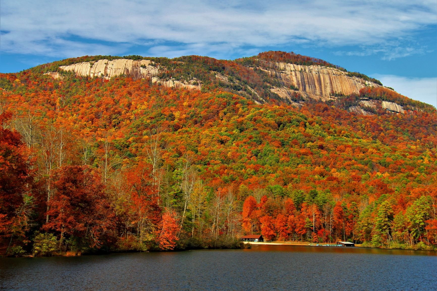 Scenes of SC: Table Rock Mountain with Pinnacle Lake by Stan Ellzey