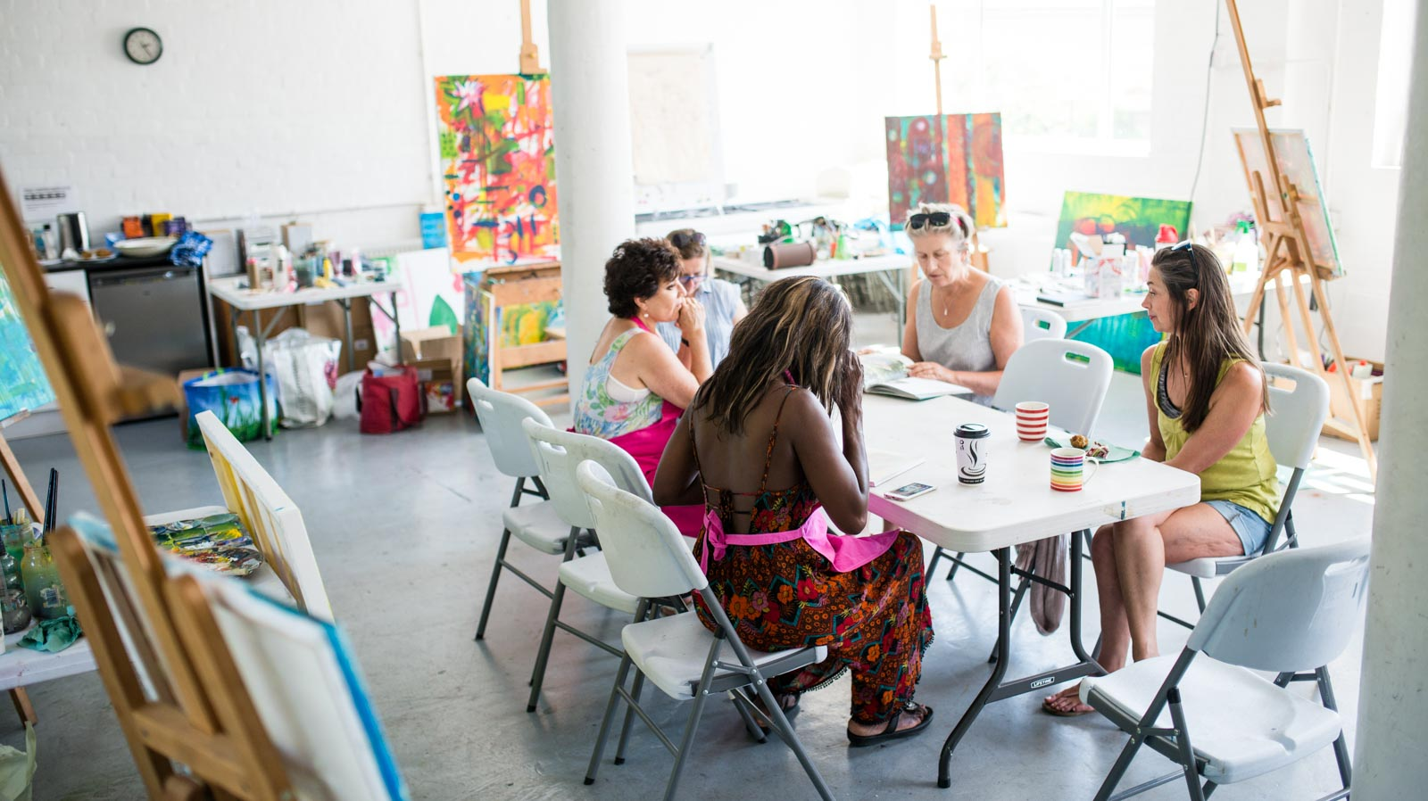 Wild Painting Workshop Event with Personal Brand Portrait Photographer from Brighton & London