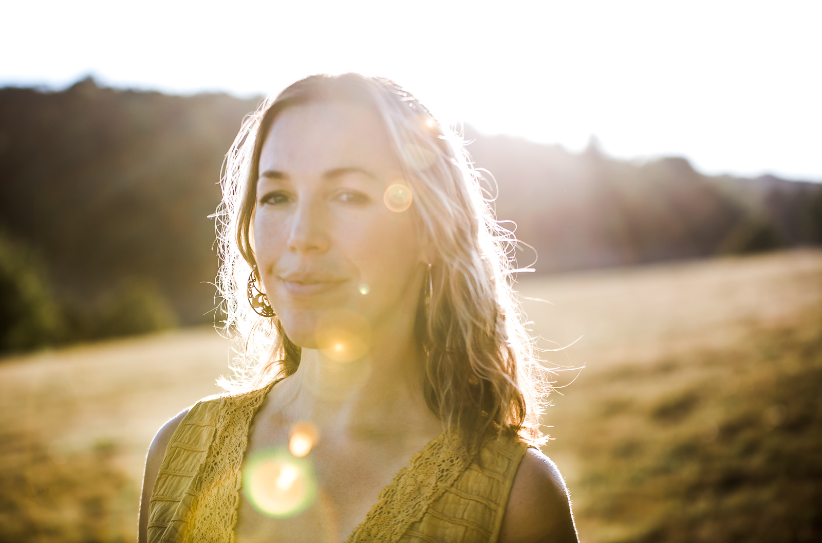 Golden Hour Outdoor Personal Brand Portrait Session with Eco goddess in Brighton & London area