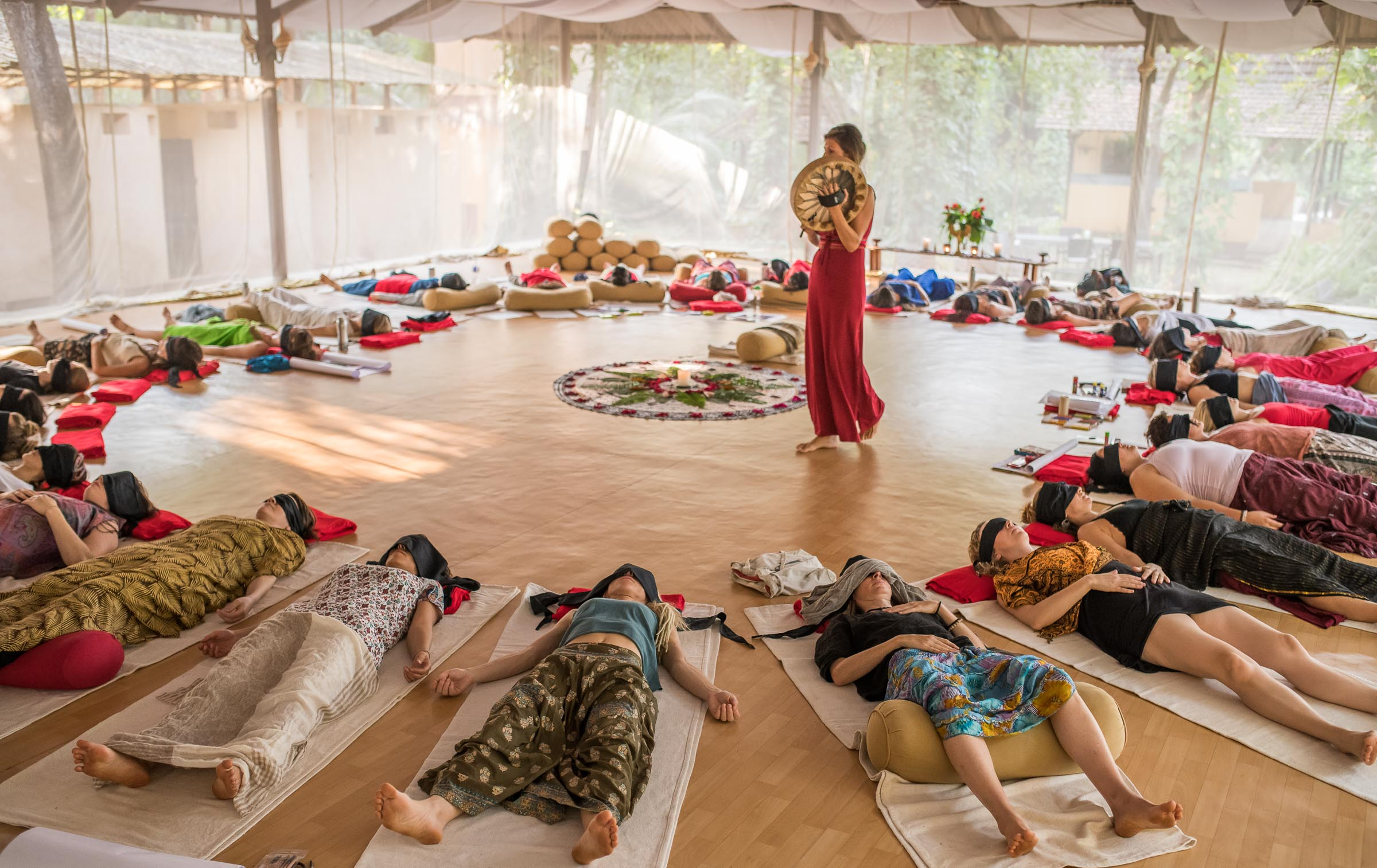 Wild Women drum workshop in India captured by Event photographer Magdalena Smolarska