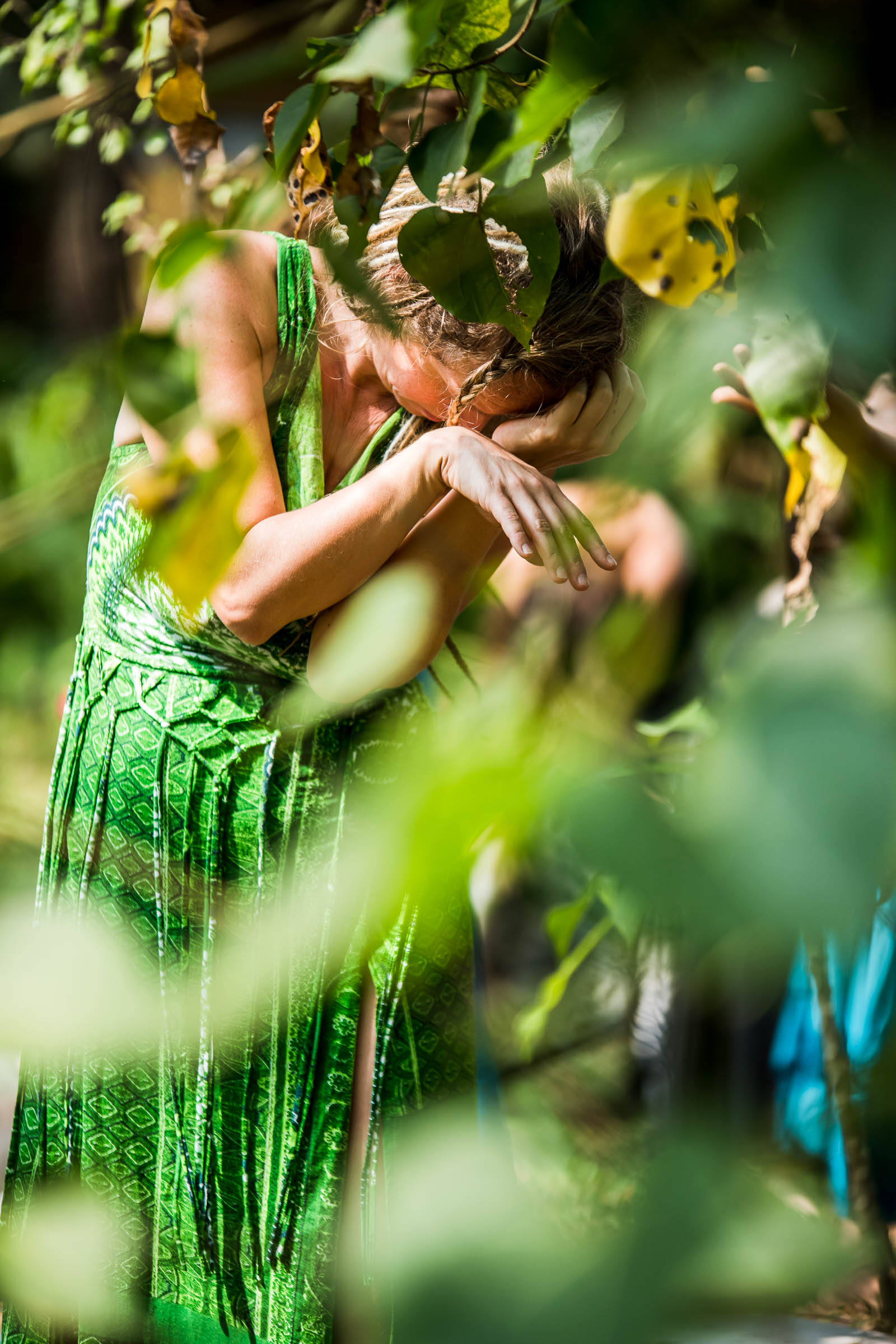 Outdoor Dance Portrait captured during Women retreat in India by Magdalena Smolarska Photography