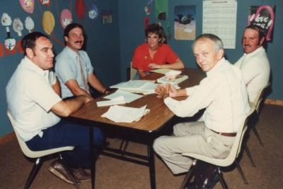 Trustees meeting:Don Johnson (left), Jim C, Elaine Boozer, David Coppedge, Milam Rowold