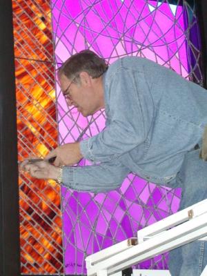 Jack Whitworth Installing Resurrection Window