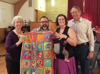 Vogt Baptism and quilt