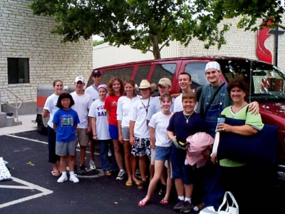 2000 Ryan Barnett and youth before mission trip