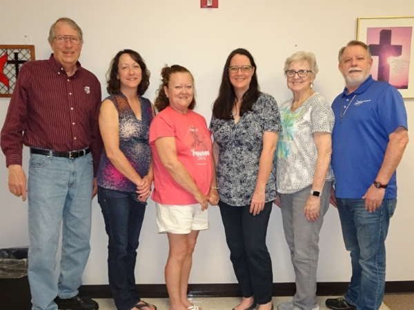 History team: (L to r) Donn german, Linda Clements, Donna Coppedge, Holly Taylor, Kay Monzingo, Gene Mcconnell. (N0t in Picture- Denise Cornelius, Jack Foreman)