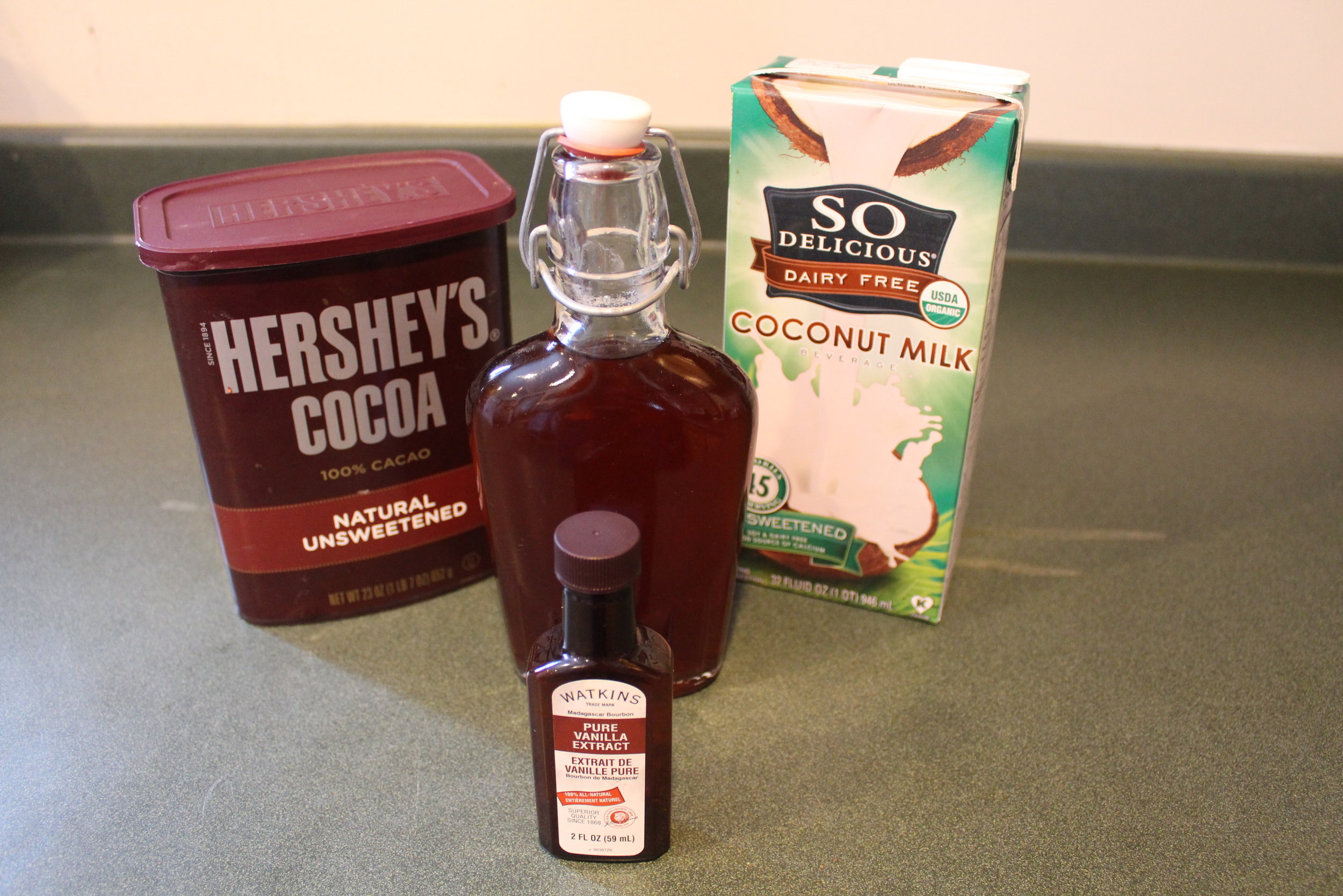 Ingredients for paleo hot chocolate.