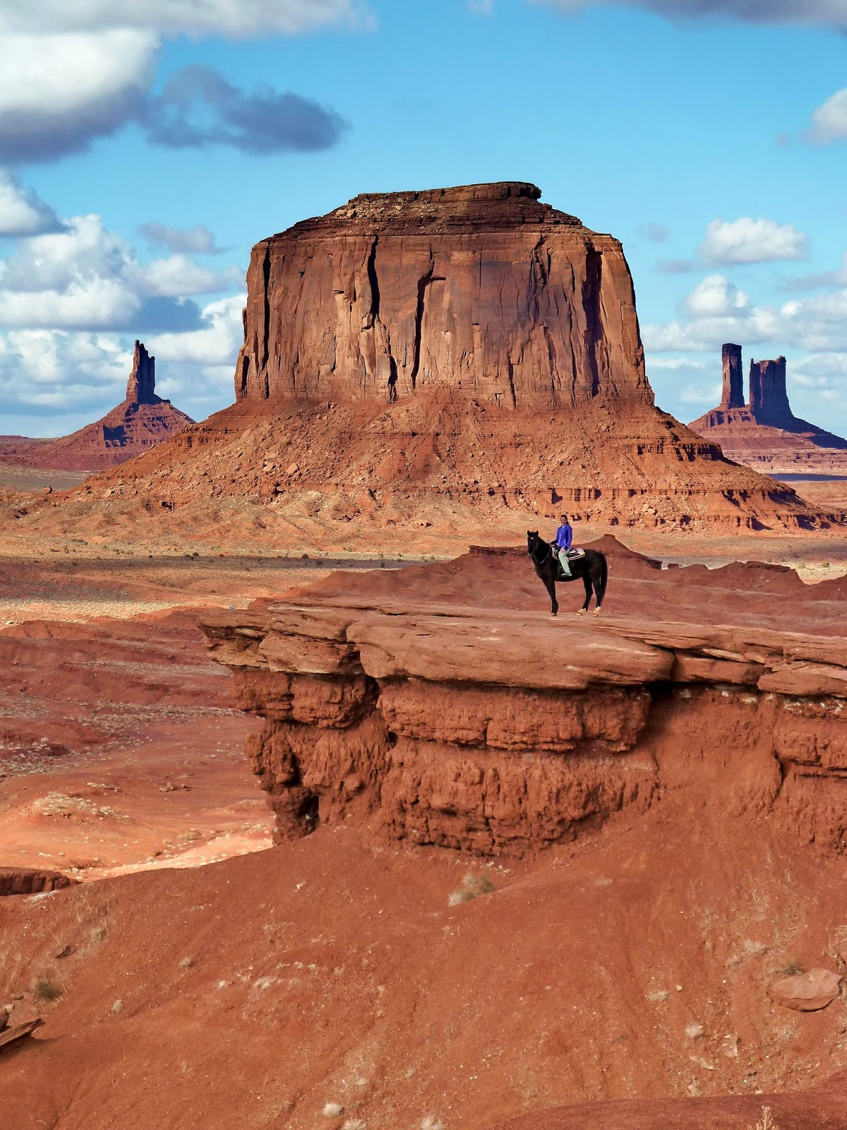 Horseback Riding in Monument Valley. This is me on John Ford's Point. Many know this from John Wayne.
