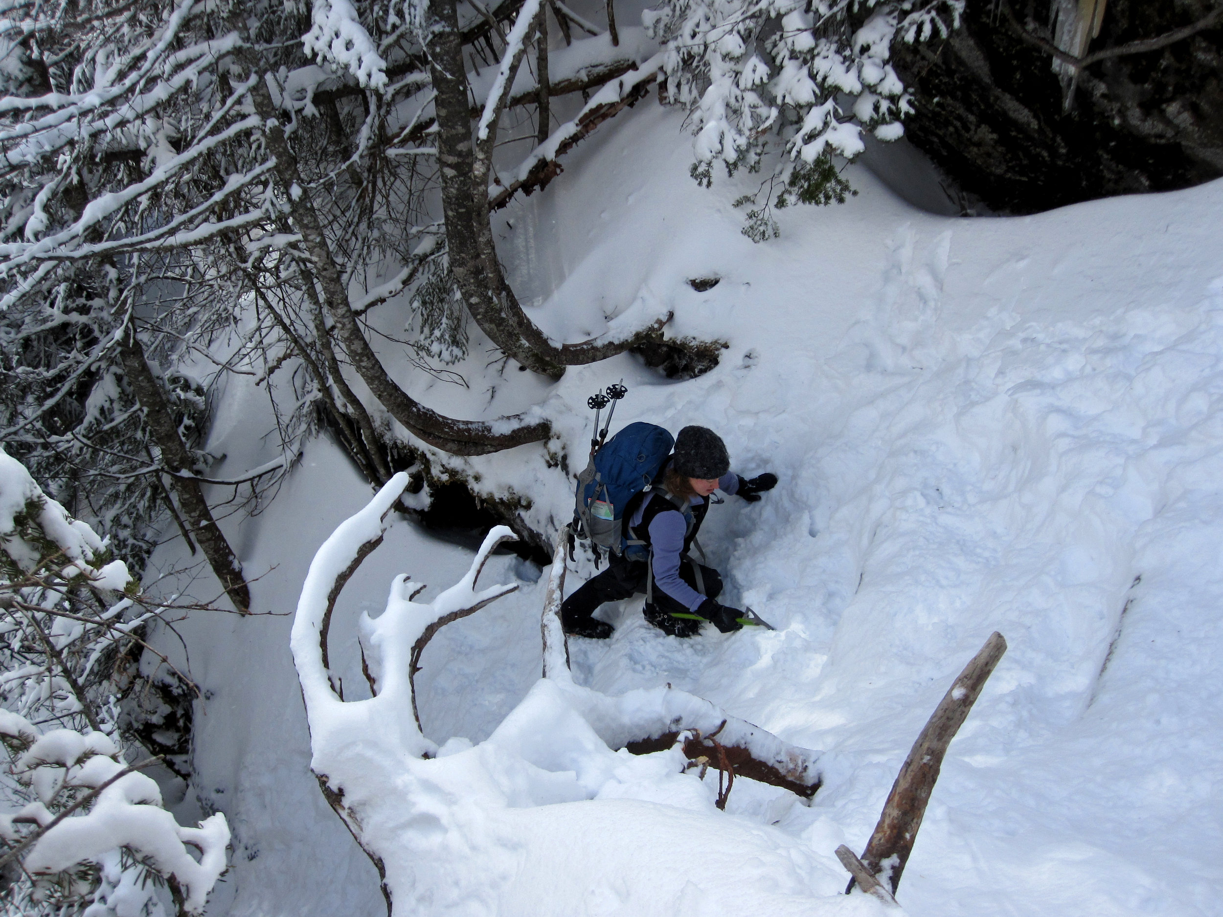 The steep trail continues!