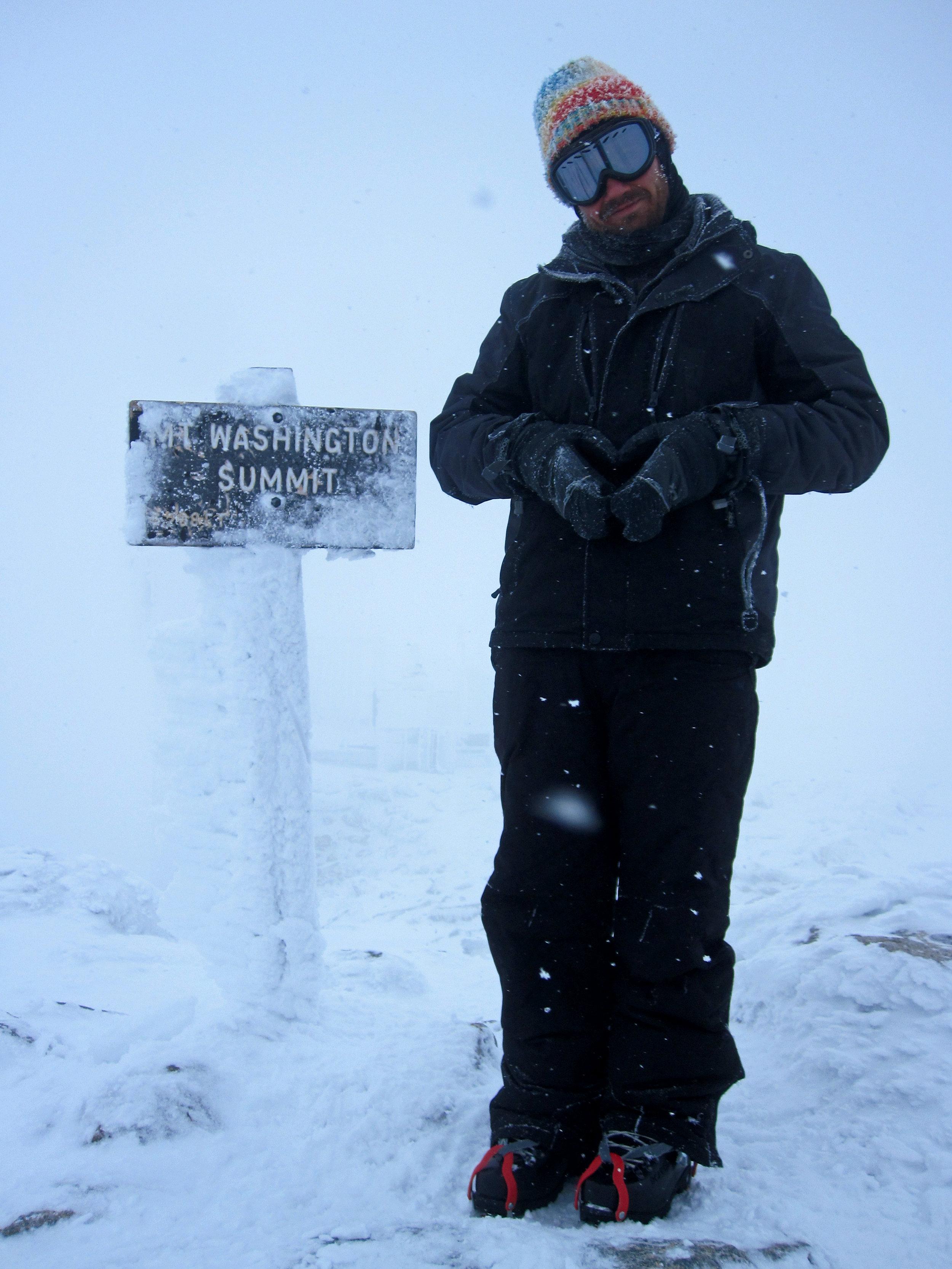 Still warm on the summit