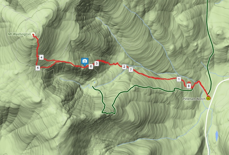 GPS track and map of our winter ascent up Lions Head