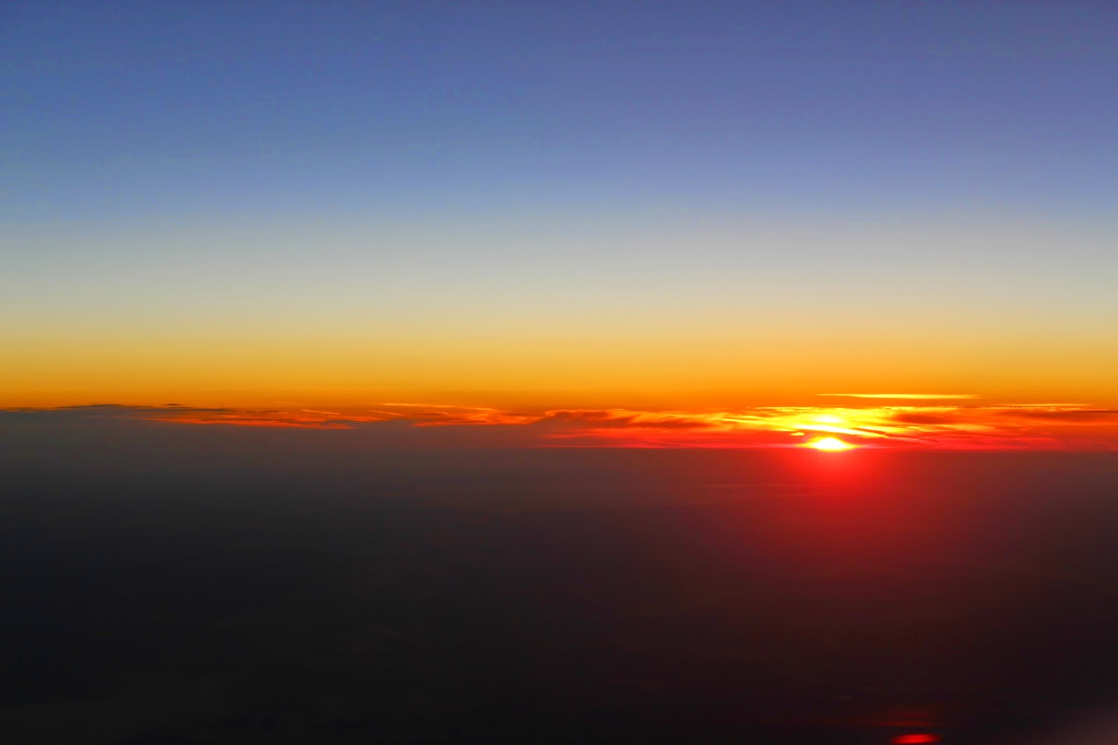 Sunrise on my flight to Moscow.
