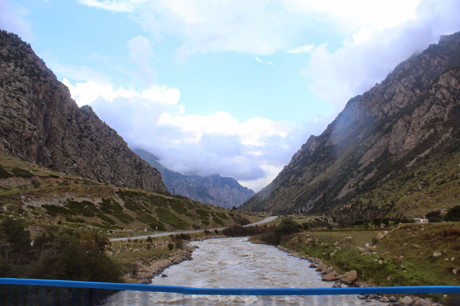 Our view on our drive to the hotel in the Cheget region.