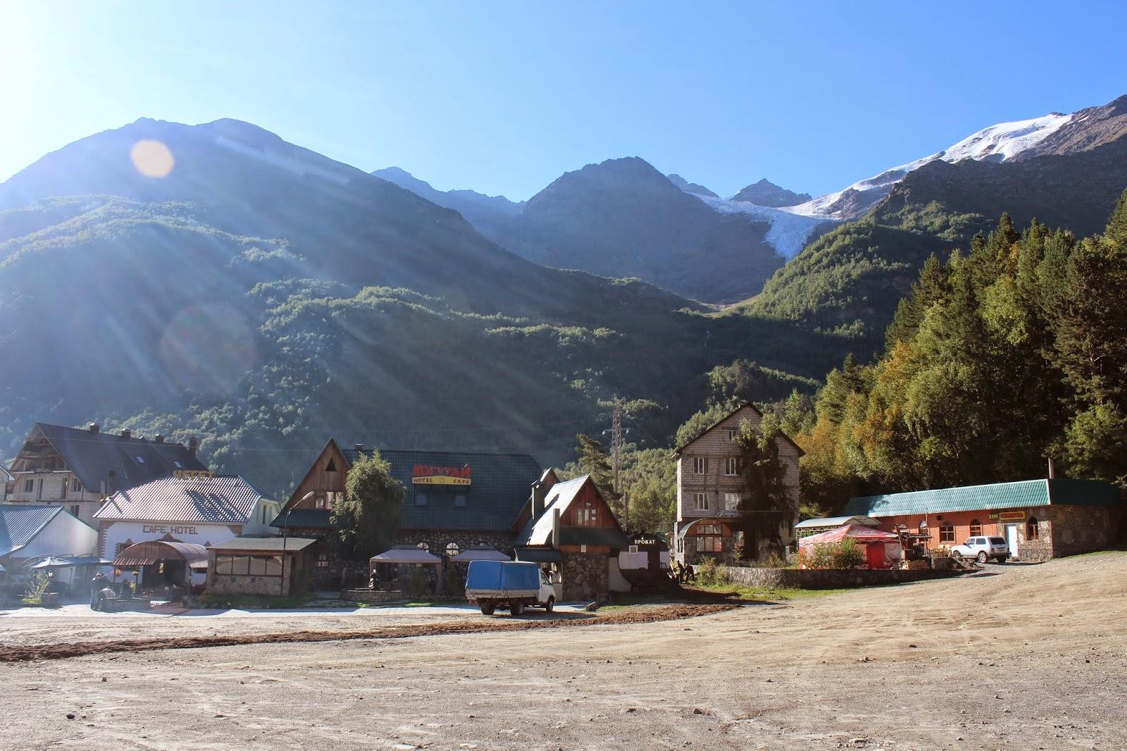 Cute town near Mount Elbrus.