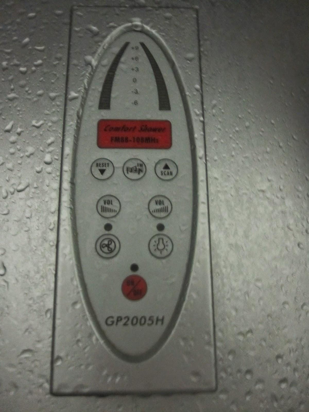 Radio in shower.