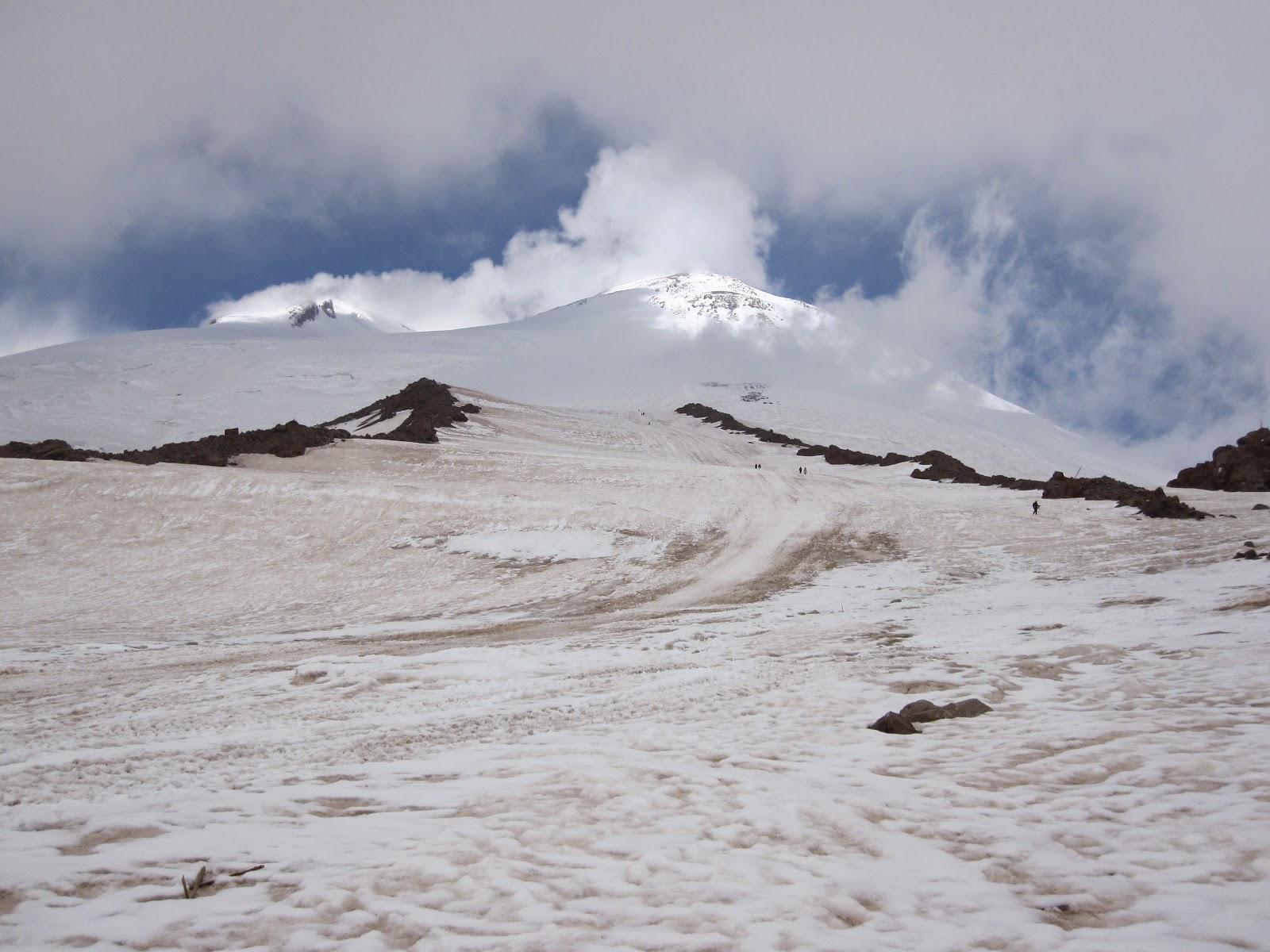 Pastukhov rocks on Mount Elbrus