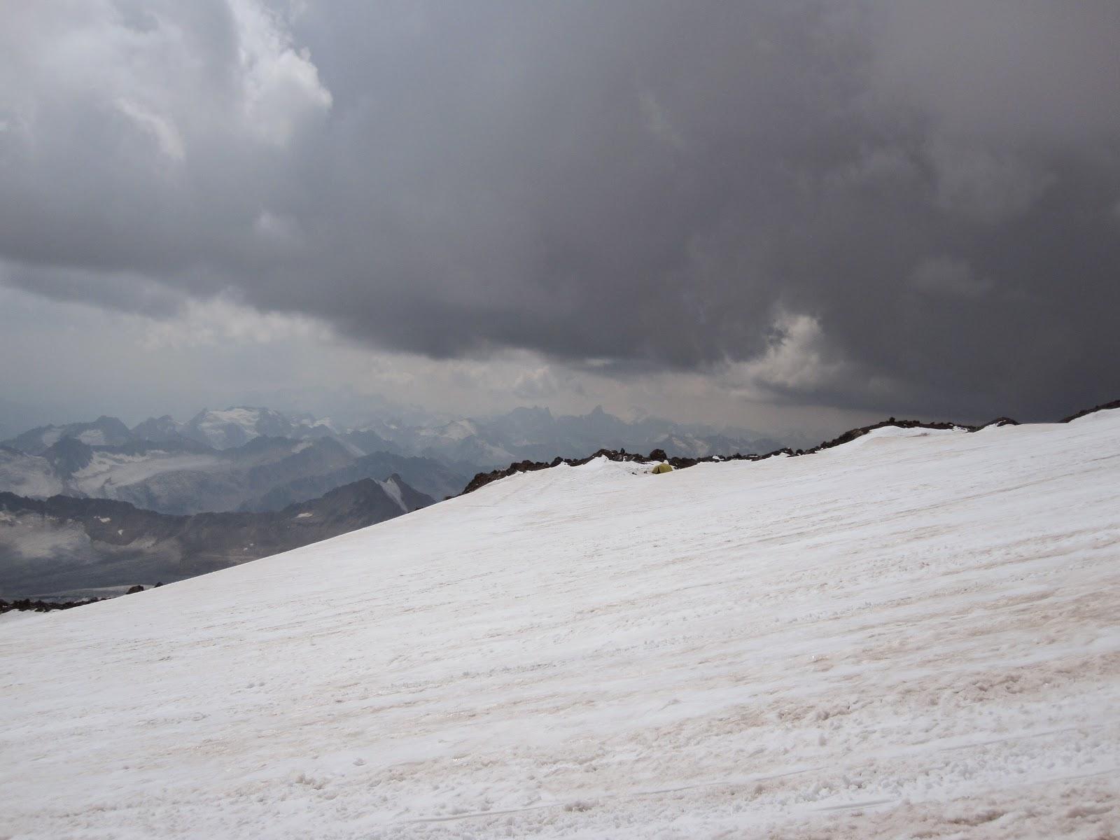 Thunderstorm on Mount Elbrus